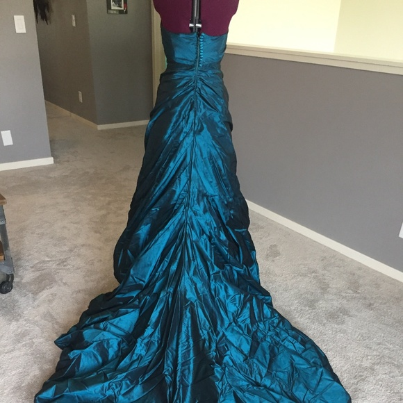 Justina Mccaffrey Dresses   Taffeta Teal Ballgown   Poshmark